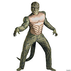 Adult Man's Classic Muscle The Amazing Spiderman Lizard Costume