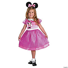 Pink Minnie Mouse Basic Girl's Costume