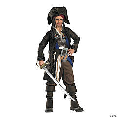 Pirates Of Carribean Captain Jack Sparrow Boy's Costume