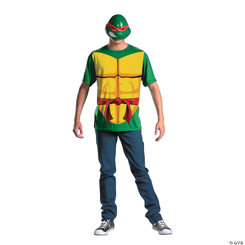sc 1 st  Oriental Trading & Menu0027s Plus Size Alternative Teenage Mutant Ninja Turtles Raphael Costume