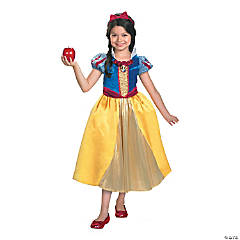Snow White Lamé Deluxe Girl's Costume