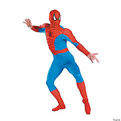 Adult Man's Classic Muscle Chest Spiderman Costume