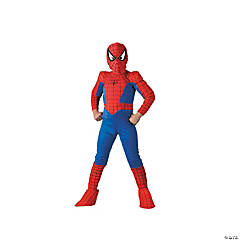 Boy's Deluxe Comic Spiderman Costume