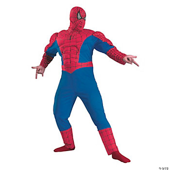 Spider-Man Classic Muscle Chest Adult Men's Costume