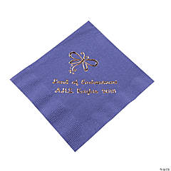Personalized Purple Enchantment Beverage Napkins