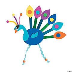 Craft Stick Peacock Craft Kit