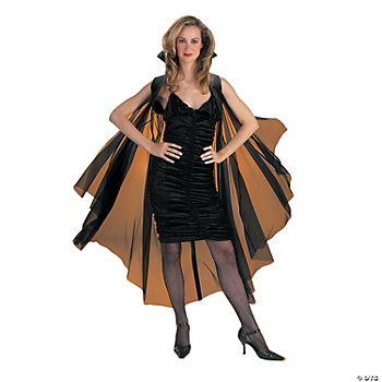 "58"" Sheer Black Cape"
