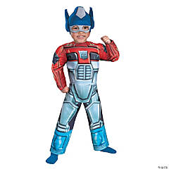 Boy's Muscle Rescue Bot Optimus Prime Costume