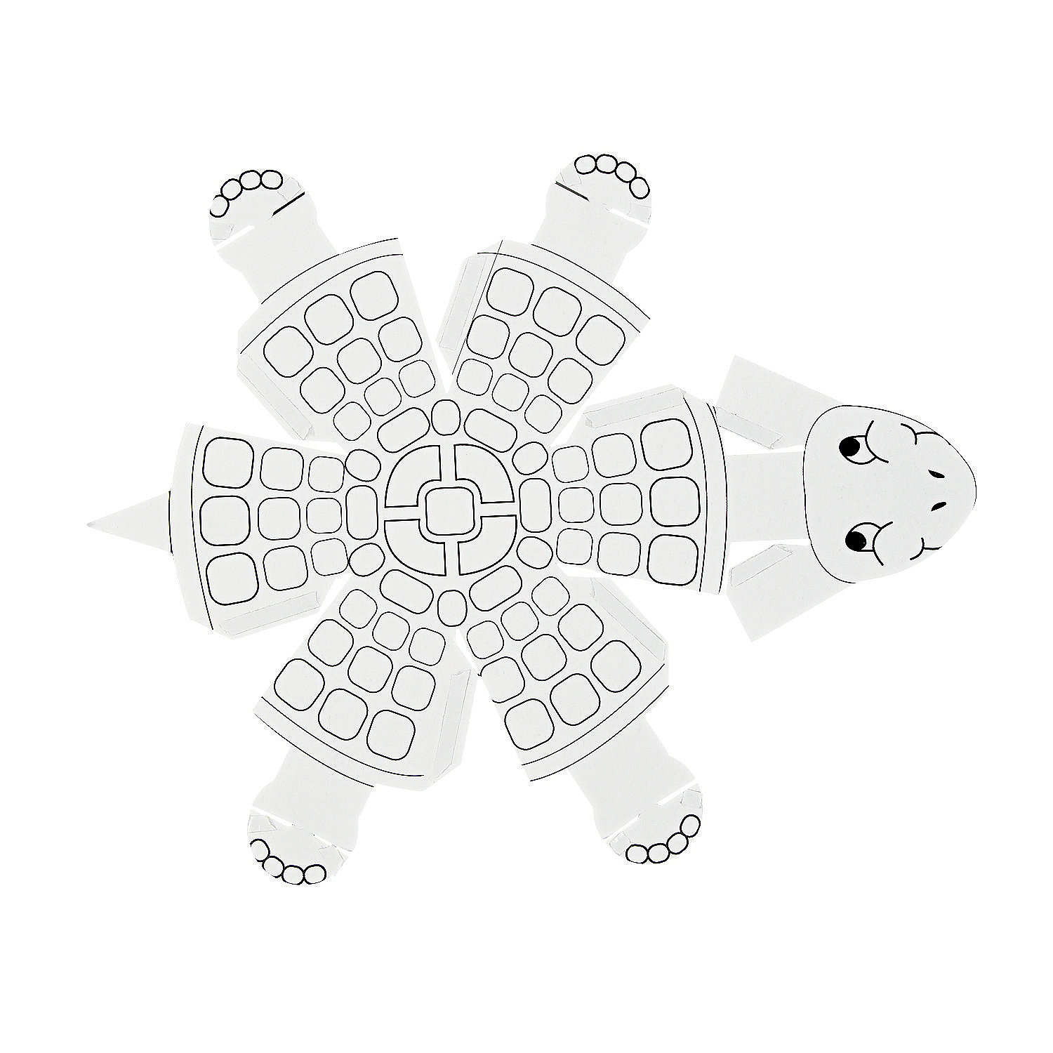 Color Your Own 3D Turtles, Coloring Crafts, Crafts for ... - photo#21