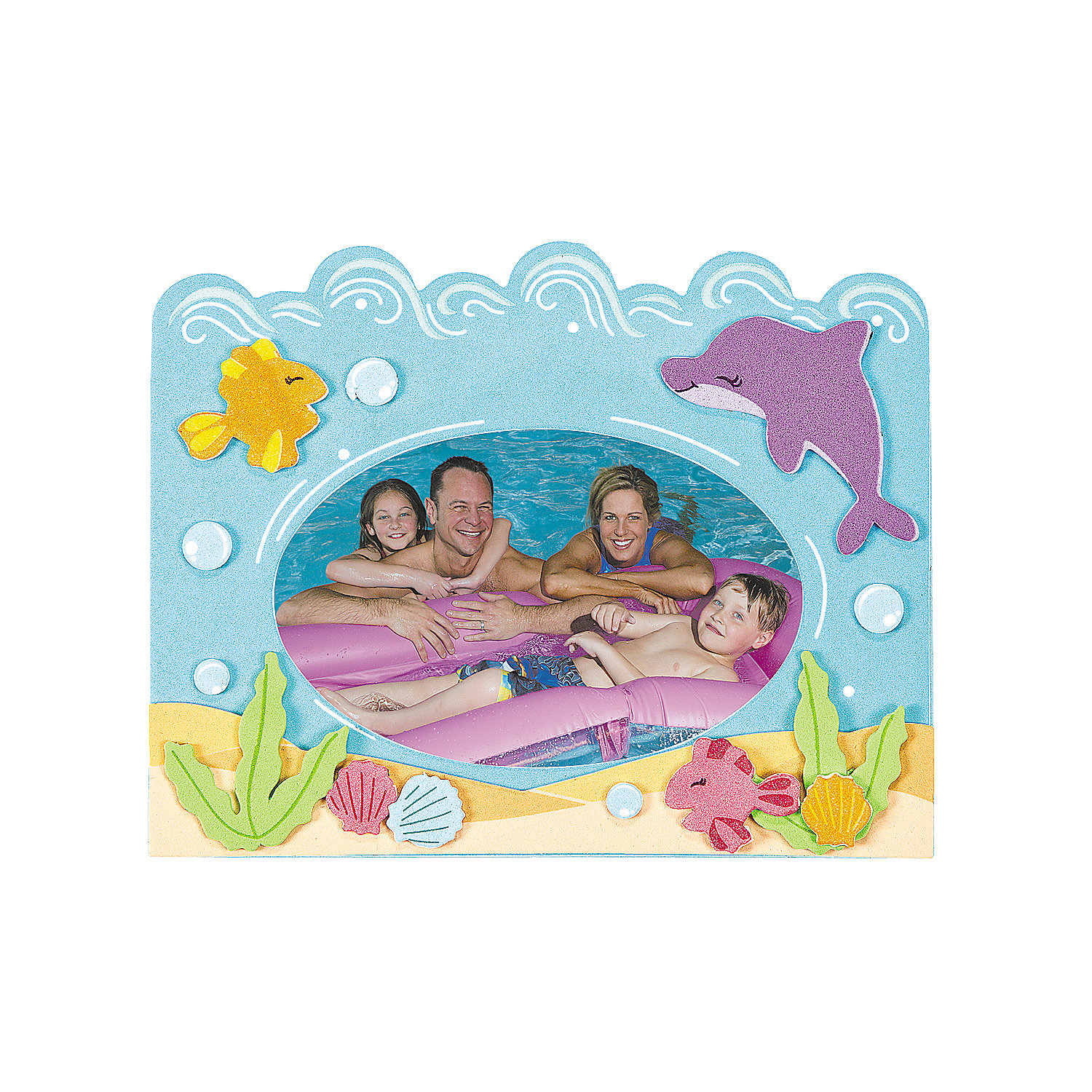Under the sea picture frame magnet craft kit oriental for Picture frames for crafts
