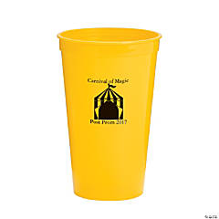 Personalized Yellow Carnival Tumblers