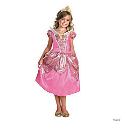 Disney Princess Sleeping Beauty Aurora Lamé Deluxe Girl's Princess Costume