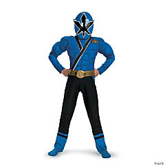 Blue Ranger Samurai Muscle Boy's Power Rangers Costume