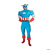 Captain America Muscle Deluxe Adult Men's Costume