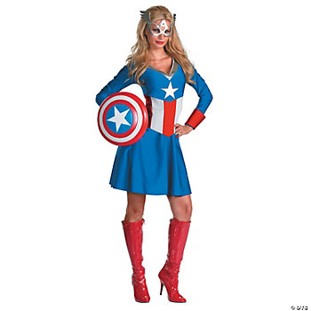 Classic Captain America Adult Women's Costume