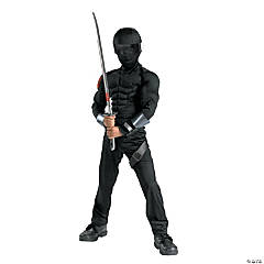 Boy's G.I. Joe Snake Eyes Muscle Costume
