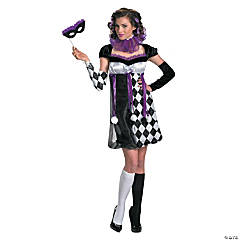 Harlequin Masquerade Adult Women's Costume