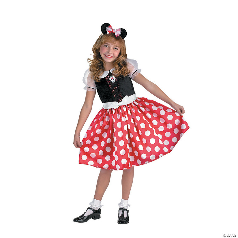 sc 1 st  Oriental Trading & Girlu0027s Minnie Mouse™ Costume
