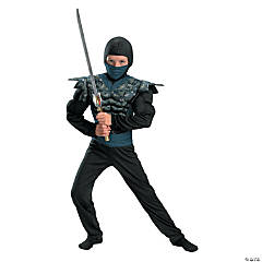 Night Camouflage Ninja Boy's Costume