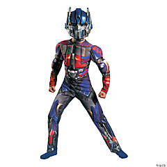 Optimus Prime Muscle Boy's Costume With Full Mask