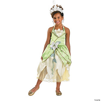 Princess Tiana Deluxe Girl's Costume