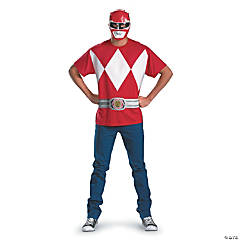 Adult Man's Alternative Red Ranger Costume