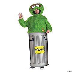 Retro Oscar Grouch Adult Men's Costume