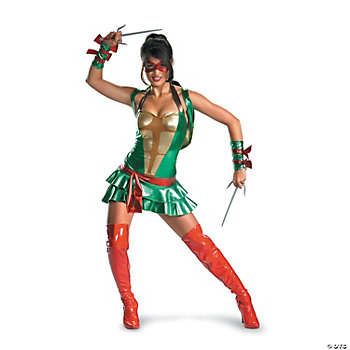 Sexy Raphael Teenage Mutant Ninja Turtle Adult Women's Costume