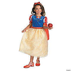 Snow White Deluxe Costume for Girls With Detachable Cape