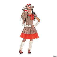 Sock Monkey Costume for Girls