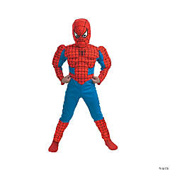 Deluxe Muscle Spiderman Costume for Boys