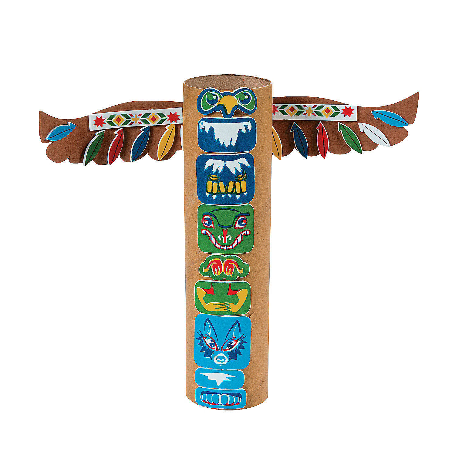 native american totem pole craft kit oriental trading
