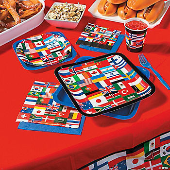 International party supplies for International party decor
