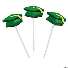 Green Mortar Board Graduation Suckers
