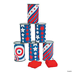 Patriotic Can Bean Bag Toss Game