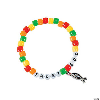 Trust god pony bead bracelet craft kit oriental trading