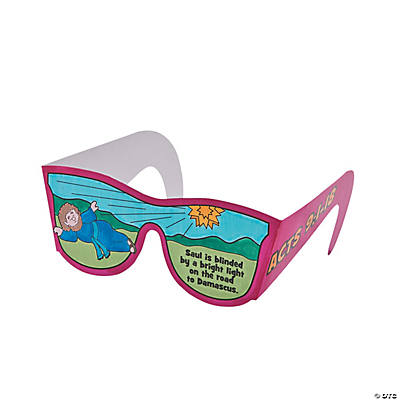 "Color Your Own ""Saul Is Blinded"" Glasses"
