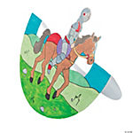 "Color Your Own ""Mighty Kingdom"" Knight Riding Horses"