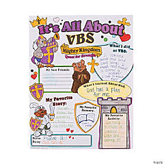 "Color Your Own All About ""Mighty Kingdom"" VBS Posters"