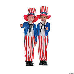 Sequined Uncle Sam Kid's Costume