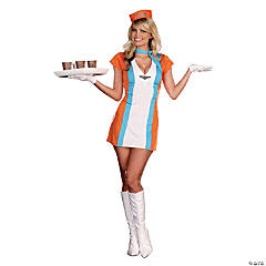 Retro Flight Attendant Adult Women's Costume