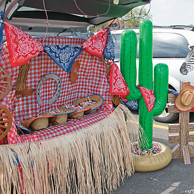 Western Trunk or Treat Car Decorations Idea