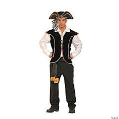Pirate Vest Male Adult Men's Costume