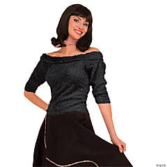 Sock Hop Top Black Adult Women's Costume