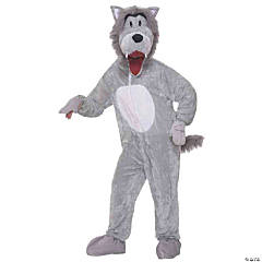 Wolf Grey Mascot Adult Costume