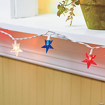 Red, White & Blue Mini Star Lights