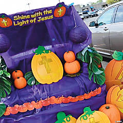 Christian Pumpkin Trunk or Treat Car Decorations Idea