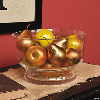 Gold Fruit Bowl Decoration