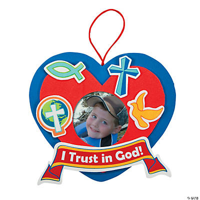 """I Trust in God"" Picture Frame Ornament Craft Kit"