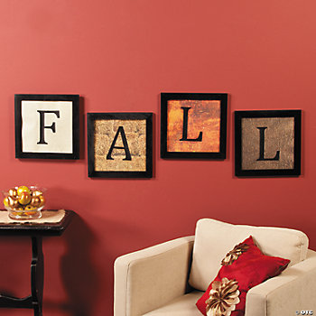 Fall Framed Scrapbook Art